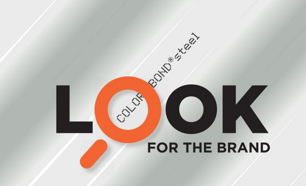Look for the brand mark